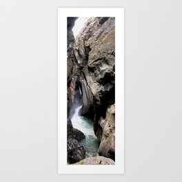 The 200-foot Rock Crevasse of Box Canyon Falls Art Print