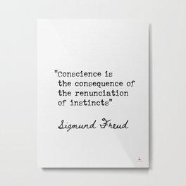 Sigmund Freud Austrian neurologist Metal Print