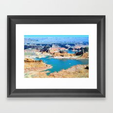 Soaring Over Turquoise and Sandstone XIII Framed Art Print