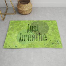 Just Breathe | Green Foliage Rug