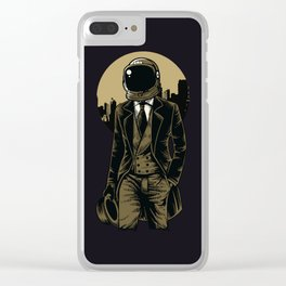 Classic Astronout Clear iPhone Case