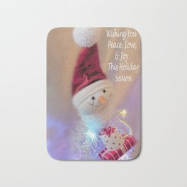 Cutest Snowman Greeting Bath Mat