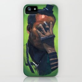 Untitled (soldier, green) iPhone Case