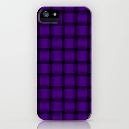 Indigo Violet Weave iPhone Case