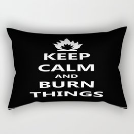 Burn Things Rectangular Pillow