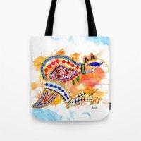 kangaroo Tote Bags featuring Kangaroo by Armyhu