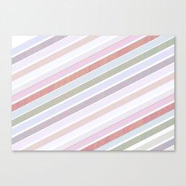 Add colour to stripes Canvas Print