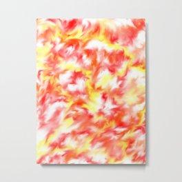 Smokey Flowers Metal Print