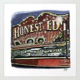 Honest Ed's, Toronto Art Print