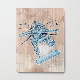 skater hand draw  Metal Print