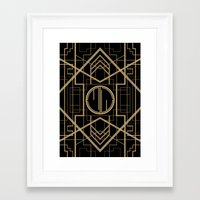 the great gatsby Framed Art Prints featuring MJW- GREAT GATSBY STYLE by MATT WARING