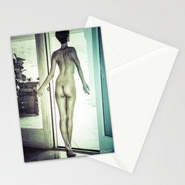 0092 Boyish Tall Brunette Nude Stationery Cards