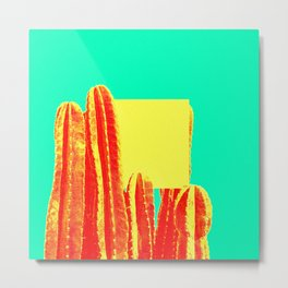 Yellow Cube Metal Print
