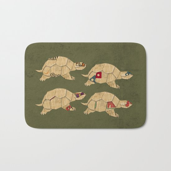 Heroes in a pizza box... Turtle Power! Bath Mat