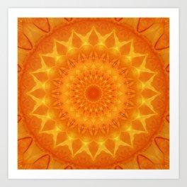Mandala source of light Art Print