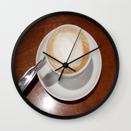Rise and Shine Cafe con Leche Coffee! Wall Clock