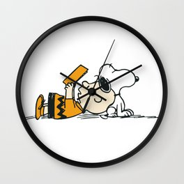 Snoopy And Charlie Brown  Wall Clock