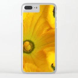 Pumpkin flower Clear iPhone Case