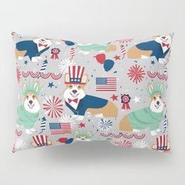 Corgi July 4th patriotic dog breed USA pet friendly custom dog breed pattern Pillow Sham