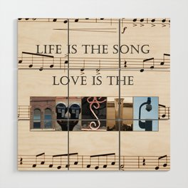 Love of Music Wood Wall Art