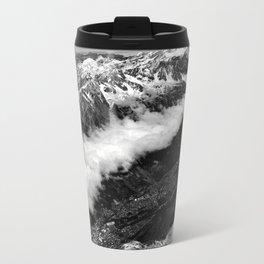 View from Mont Blanc of Chamonix, France. Travel Mug