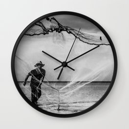 Casting the net Wall Clock