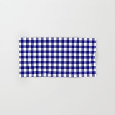 Gingham (Navy Blue/White) Hand & Bath Towel