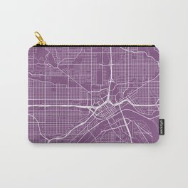 St Paul Map, USA - Purple Carry-All Pouch