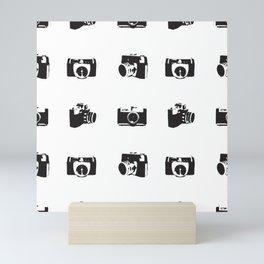 Retro Vintage Camera Pattern Design Mini Art Print