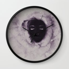 Purple Flower Lady Wall Clock