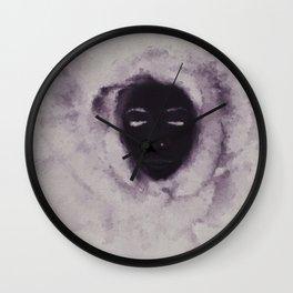 Purple Flower Lady Wall Clock