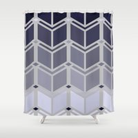 art deco Shower Curtains featuring Deco-Art by HelmichDesign
