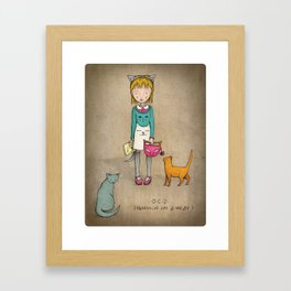 OCD - Obsessive Cat Disorder - Crazy Cat Lady Framed Art Print
