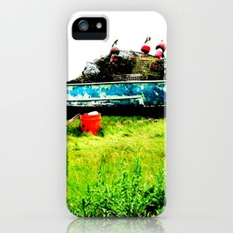 Lobster Dinghy With Lobster Traps iPhone Case