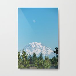 Snow Capped Mountain (Color) Metal Print