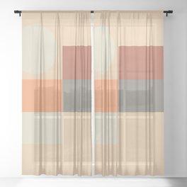 Contemporary Composition 25 Sheer Curtain