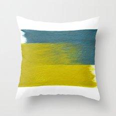 clashing brushstrokes Throw Pillow
