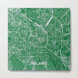 Milan, Italy street map Metal Print