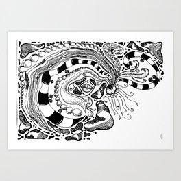 sensory zen tangle Art Print