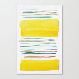 13  |181026 Lines & Color Block | Watercolor Abstract | Modern Watercolor Art Canvas Print