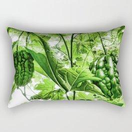 Bitter Melon hang on tree Rectangular Pillow
