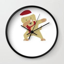 Dabbing Labrador Santa Best Gift For Christmas Wall Clock