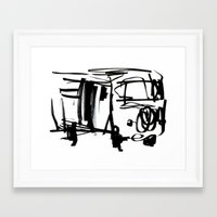 vw bus Framed Art Prints featuring vw bus by character undefined