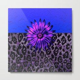 Purple Animal Print and Medallion Metal Print