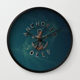 Anchored Deep 2 Wall Clock