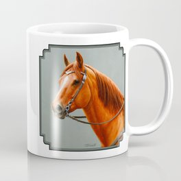 Red Dun Western Quarter Horse Coffee Mug