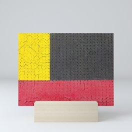 Yellow Grey Red Mini Art Print