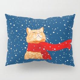 Tabby loves Snow... Pillow Sham
