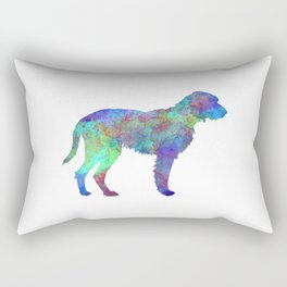 Fawn Brittany Griffon in watercolor Rectangular Pillow