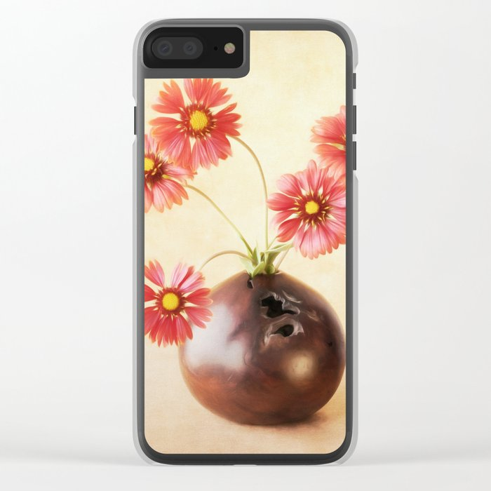 Bright Blanket Flowers Clear iPhone Case